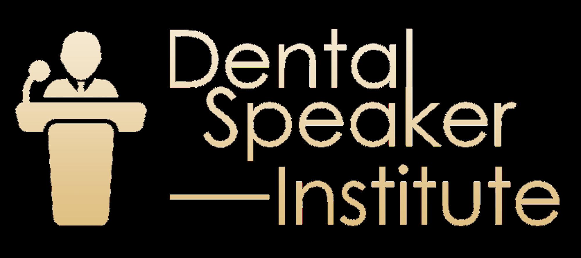 dental speaker insitute logo golden