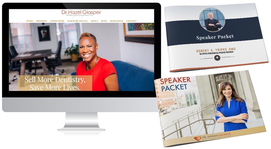 dental speaker marketing materials