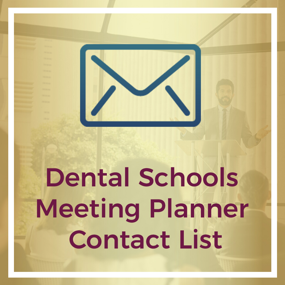 dental schools meeting planner contact list