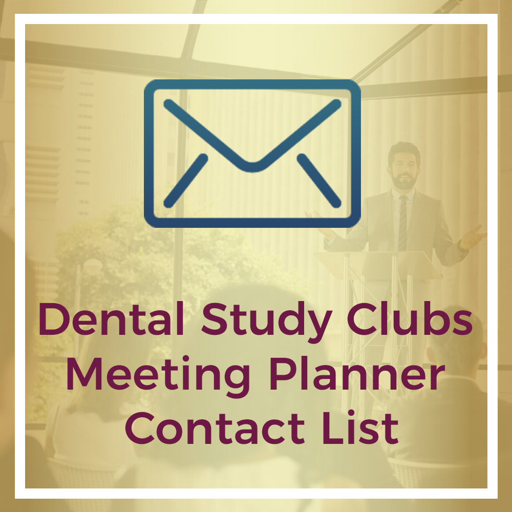 dental study club meeting planner contact list